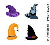 witch hats festive set  cute... | Shutterstock .eps vector #1959416215