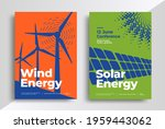 wind and solar energy poster...   Shutterstock .eps vector #1959443062