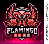 twins flamingo mascot.  esport... | Shutterstock .eps vector #1959448642