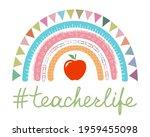 teacher rainbow school banner...   Shutterstock .eps vector #1959455098
