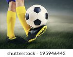 football player is playing... | Shutterstock . vector #195946442