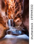 kanarra creek slot canyon trail ... | Shutterstock . vector #195949232