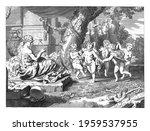 six children perform a round... | Shutterstock . vector #1959537955