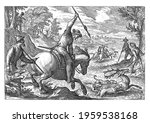 river landscape with riders and ... | Shutterstock . vector #1959538168