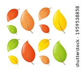set of cute colorful leaves.... | Shutterstock .eps vector #1959538858