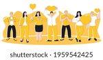 people feeling sincere grateful ...   Shutterstock . vector #1959542425
