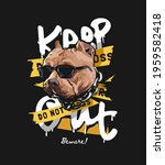 keep out slogan with dog head... | Shutterstock .eps vector #1959582418