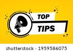 megaphone with top tips speech...   Shutterstock .eps vector #1959586075
