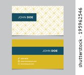 business card template with... | Shutterstock .eps vector #195962546