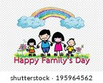happy family 's day  father ... | Shutterstock .eps vector #195964562