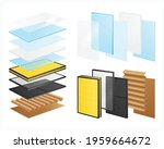 layered materials realistic set ... | Shutterstock .eps vector #1959664672
