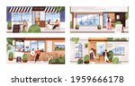 people drinking and eating... | Shutterstock .eps vector #1959666178