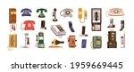 vintage telephones and modern... | Shutterstock .eps vector #1959669445
