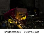 Welder Working With Electrode...