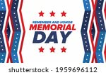 memorial day in united states.... | Shutterstock .eps vector #1959696112
