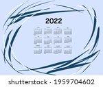 calendar 2022. blue pastel...   Shutterstock . vector #1959704602