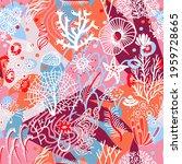 colorful sea nautical seamless...   Shutterstock .eps vector #1959728665