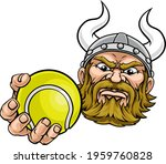 a viking tennis sports mascot... | Shutterstock .eps vector #1959760828