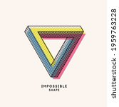 impossible geometric shape. the ... | Shutterstock .eps vector #1959763228
