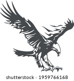eagle emblem isolated on white... | Shutterstock .eps vector #1959766168