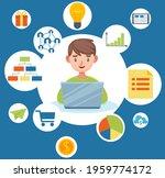 kid creativity  mindmap and... | Shutterstock .eps vector #1959774172