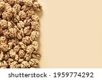 Frame Of Fresh Walnuts Without...
