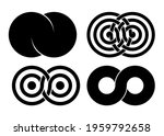 set of infinity signs made of... | Shutterstock .eps vector #1959792658