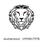 black vector design of lion's... | Shutterstock .eps vector #1959817978
