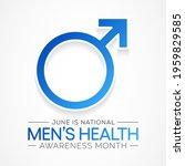 men's health month is observed... | Shutterstock .eps vector #1959829585