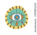 colorful eye talisman as an... | Shutterstock .eps vector #1959851242