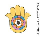 colorful eye talisman as an... | Shutterstock .eps vector #1959851245