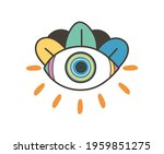 colorful eye talisman as an... | Shutterstock .eps vector #1959851275