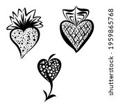 a collection of isolated heart... | Shutterstock .eps vector #1959865768