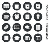 learning education circle icons ...