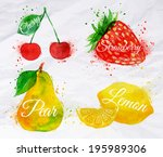art,artistic,background,berry,brushstroke,cherry,closeup,color,colorful,creative,dessert,diet,drawing,food,fresh