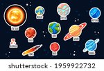 set of planet stickers. cartoon ... | Shutterstock .eps vector #1959922732