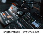Close Up View Of Radio Mixing...