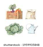 watercolor spring harvest...   Shutterstock . vector #1959935848