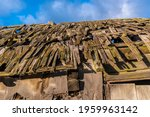 texture of an old  brown roof... | Shutterstock . vector #1959963142