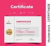 unique certificate template.... | Shutterstock .eps vector #1959974608