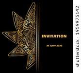 vintage gold line luxury... | Shutterstock .eps vector #1959975142