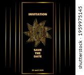 vintage gold line luxury... | Shutterstock .eps vector #1959975145