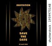 vintage gold line luxury... | Shutterstock .eps vector #1959975148
