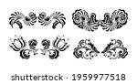 set of vintage pattern in retro ... | Shutterstock .eps vector #1959977518
