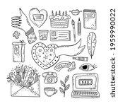 hand drawn vector of doodle... | Shutterstock .eps vector #1959990022