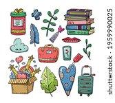 hand drawn vector of doodle... | Shutterstock .eps vector #1959990025