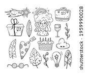 hand drawn vector of doodle... | Shutterstock .eps vector #1959990028