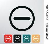 stop icon.    Shutterstock .eps vector #195999182