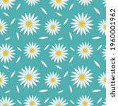 white daisies flowers blue...   Shutterstock .eps vector #1960001962