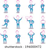 business man characters in... | Shutterstock .eps vector #196000472